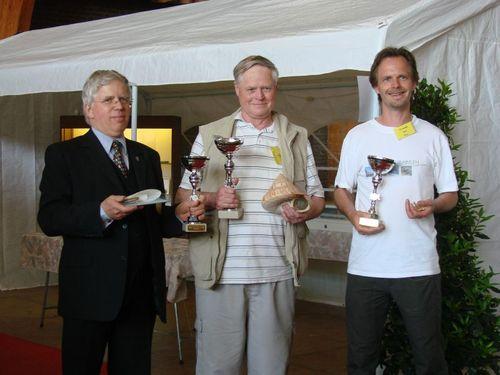Laureaci konkursu ?Shell of the Show ? nagroda publiczności?. Od lewej: Anthonie Van Peursen /Holandia/; Frank Nolf /Belgia/ oraz Koen Fraussen /Belgia/.