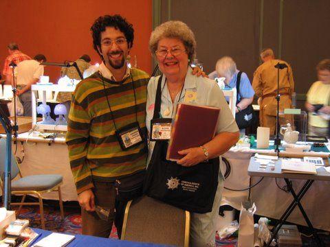 Znawca malakofauny Patagonii, Argentyńczyk ? Anders Rustam Bonard w towarzystwie Carolle Marshall, jurorki COA 2006.