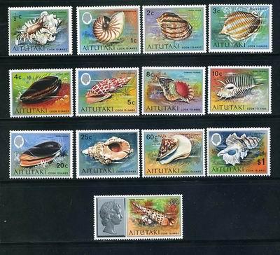 Reprezentacja ślimaczych piękności na dużej serii z Wysp Cooka, 2001.
