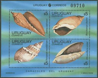Dość rzadki bloczek z Urugwaju, 1995.