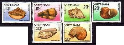 Oryginalne znaczki z Wietnamu.