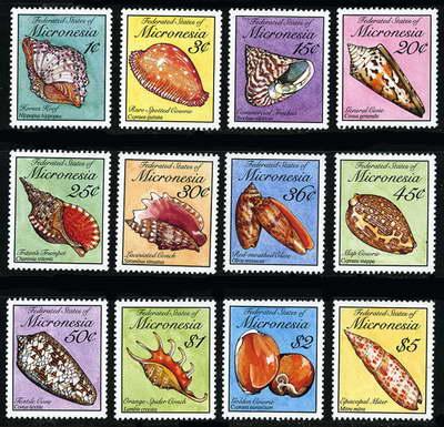 Bardzo kolorowa seria znaczków z Mikronezji.