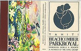Połączenie florystycznego symbolu ?rajskich wysp? ? kwiatu hibiskusa ze stylizowanym wyobrażeniem ślimaczej muszli na etykiecie zapałczanej z Haiti /druk. Japonia/.