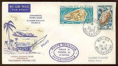 Lotnicza przesyłka z Wallis et Futuna, 1979.