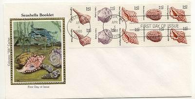 Drobne amerykańskie znaczki na kopercie z Bostonu, 1985.