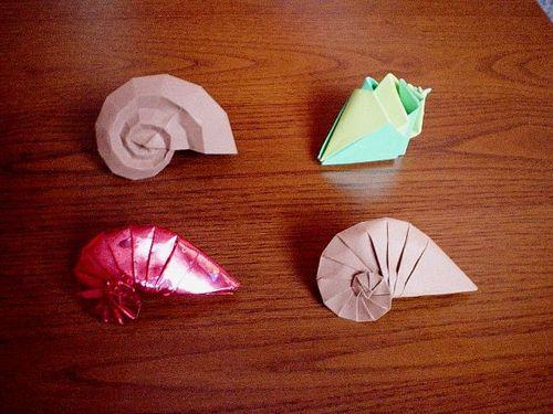 Oto muszle w origami Pana Jarosława Majchera.