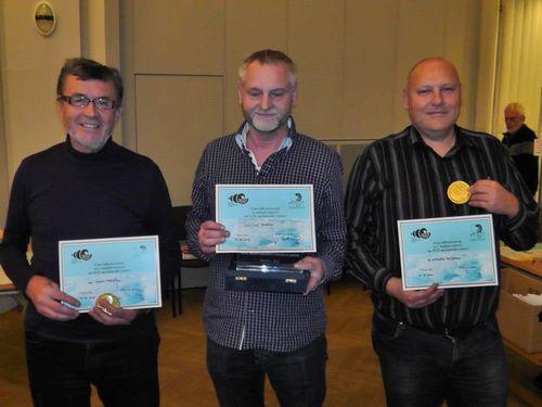 Od lewej, Panowie: Josef Krejci, Jaroslav Derka, Antonin Kozdera.