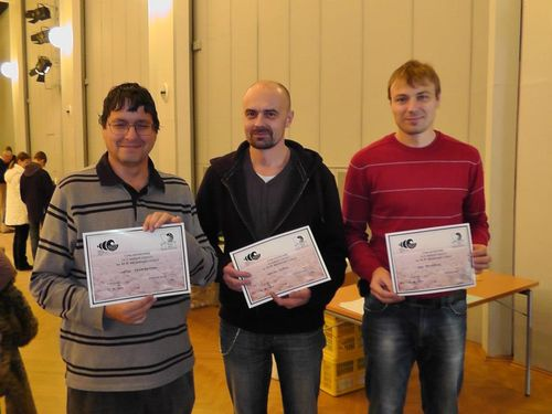 Od lewej, Panowie: Jiri Kokrment, Martin Kuća, Ivo Kolaćek.