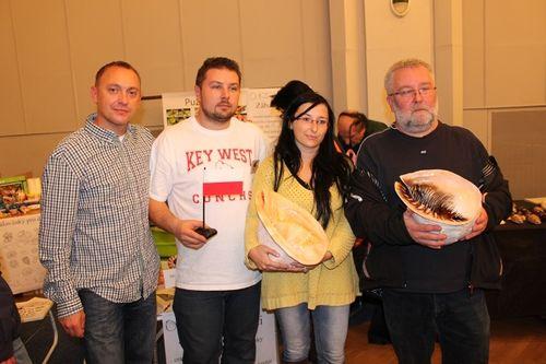 Polscy konchiści w Pradze, od lewej Państwo: Marek Ochmański, Jarosław Turek, Kamila Zając, Dariusz Jankowski.